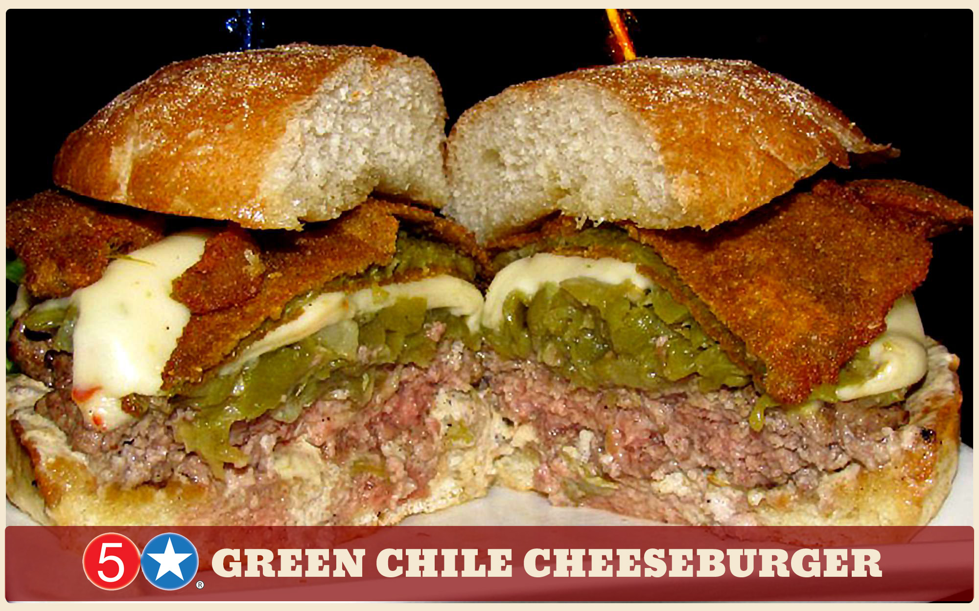 best green chile burger in New Mexico