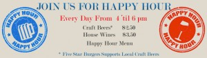 5 Star Burgers happy hour