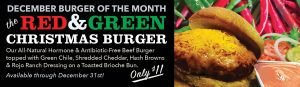The Red and Green Christmas Burger: December's Burger of the Month.